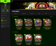 Preview of the lobby with great games at 888 online casino