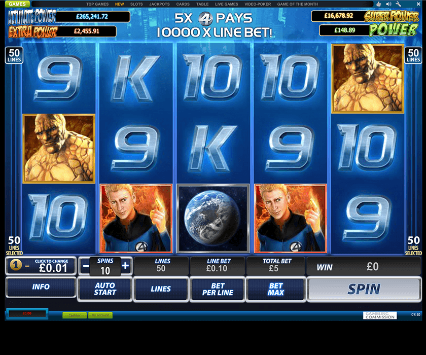One of the hottest slots at WH: Fantastic Four