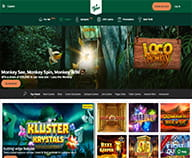 Preview of Mr Green casino home page with the welcome offers