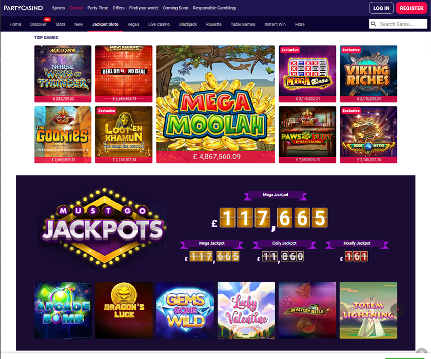 play jackpot party slot machine online casino games