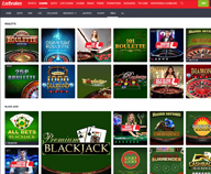 Preview of Ladbrokes casino home page with the welcome bonus