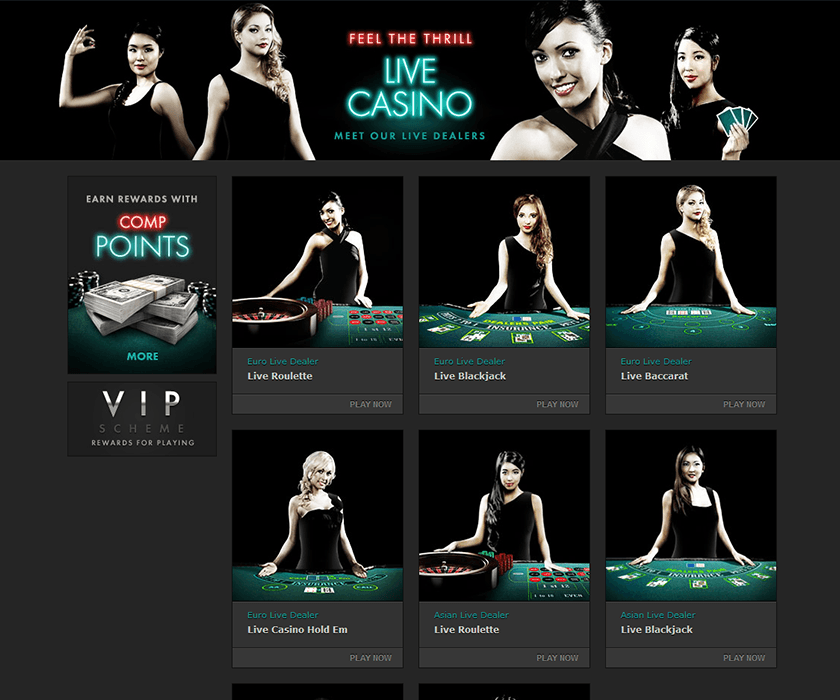 You can choose your live dealers at bet 365