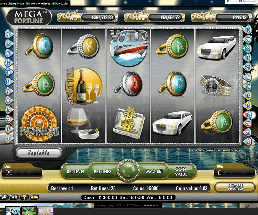 Megafortune – one of the favourite slots for players at Mr Green